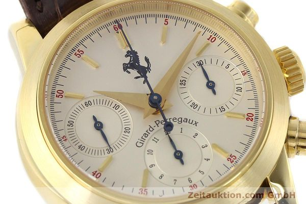 Used luxury watch Girard Perregaux Ferrari chronograph 18 ct gold automatic Kal. 8290 Ref. 9015  | 141461 02