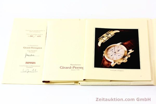 Used luxury watch Girard Perregaux Ferrari chronograph 18 ct gold automatic Kal. 8290 Ref. 9015  | 141461 08