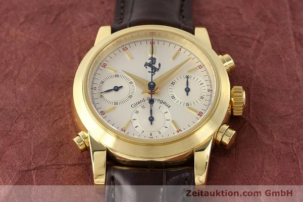 Used luxury watch Girard Perregaux Ferrari chronograph 18 ct gold automatic Kal. 8290 Ref. 9015  | 141461 20
