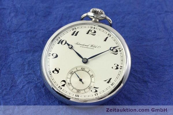 Used luxury watch IWC Taschenuhr steel manual winding Kal. C67  | 141465 04