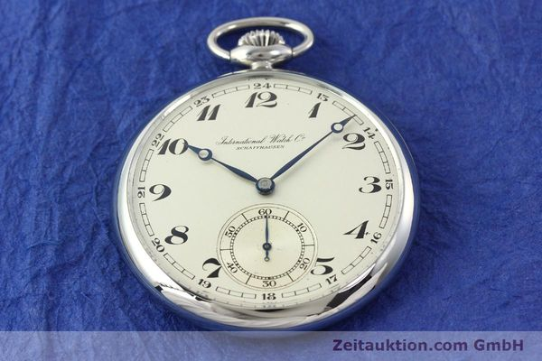 Used luxury watch IWC Taschenuhr steel manual winding Kal. C67  | 141465 12