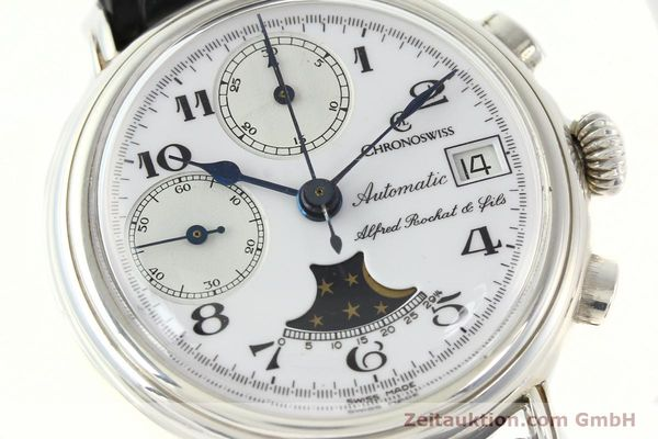 Used luxury watch Chronoswiss A. Rochat chronograph silver automatic Kal. VAL 7758  | 141466 02