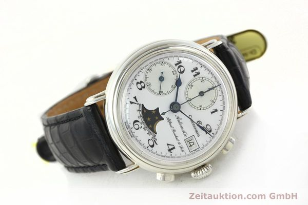Used luxury watch Chronoswiss A. Rochat chronograph silver automatic Kal. VAL 7758  | 141466 03