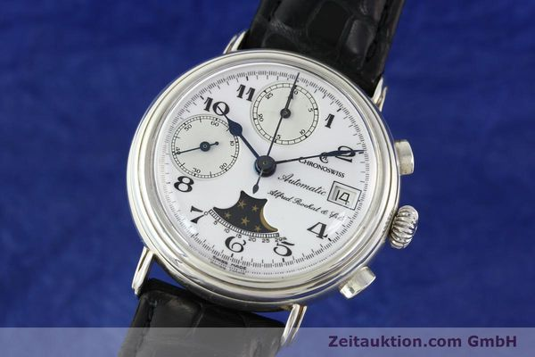 Used luxury watch Chronoswiss A. Rochat chronograph silver automatic Kal. VAL 7758  | 141466 04