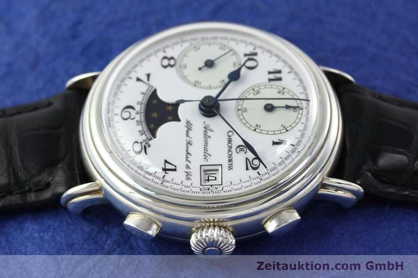 Used luxury watch Chronoswiss A. Rochat chronograph silver automatic Kal. VAL 7758  | 141466 05