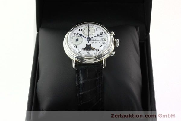 Used luxury watch Chronoswiss A. Rochat chronograph silver automatic Kal. VAL 7758  | 141466 07