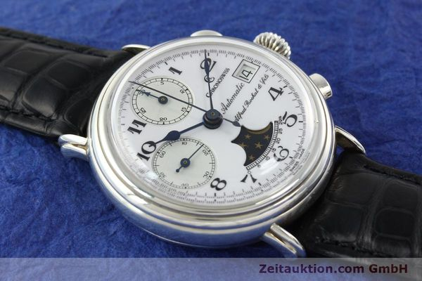 Used luxury watch Chronoswiss A. Rochat chronograph silver automatic Kal. VAL 7758  | 141466 12