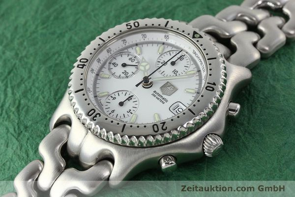 Used luxury watch Tag Heuer Link chronograph steel automatic Kal. 1.95 VAL 7750 Ref. CG2110-RO  | 141467 01