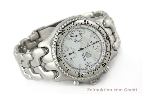 Used luxury watch Tag Heuer Link chronograph steel automatic Kal. 1.95 VAL 7750 Ref. CG2110-RO  | 141467 03