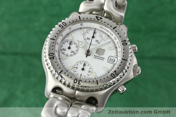 Used luxury watch Tag Heuer Link chronograph steel automatic Kal. 1.95 VAL 7750 Ref. CG2110-RO  | 141467 04