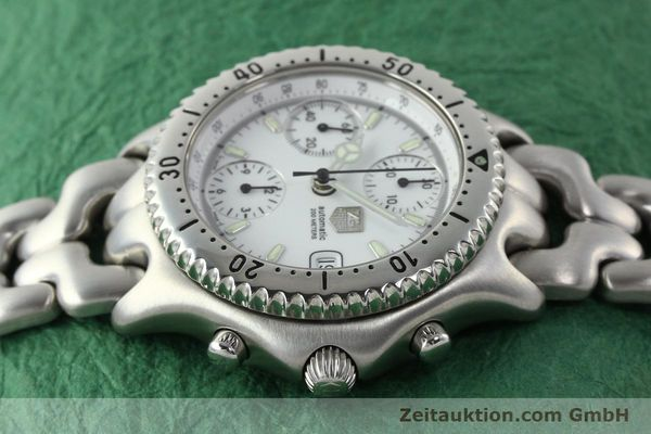 gebrauchte Luxusuhr Tag Heuer Link Chronograph Stahl Automatik Kal. 1.95 VAL 7750 Ref. CG2110-RO  | 141467 05