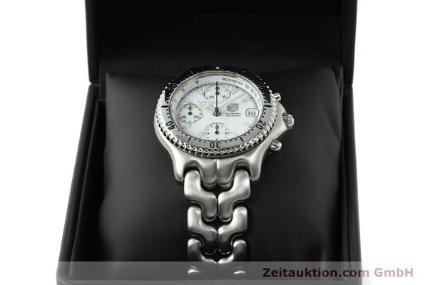 Used luxury watch Tag Heuer Link chronograph steel automatic Kal. 1.95 VAL 7750 Ref. CG2110-RO  | 141467 07