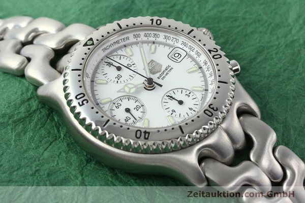 Used luxury watch Tag Heuer Link chronograph steel automatic Kal. 1.95 VAL 7750 Ref. CG2110-RO  | 141467 15