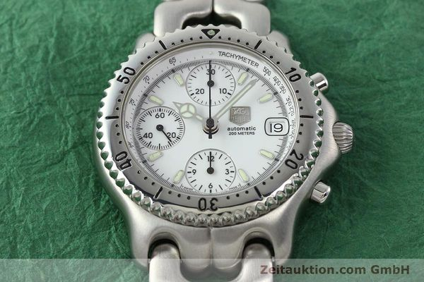 gebrauchte Luxusuhr Tag Heuer Link Chronograph Stahl Automatik Kal. 1.95 VAL 7750 Ref. CG2110-RO  | 141467 16
