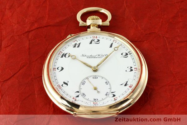 Used luxury watch IWC Taschenuhr 14 ct yellow gold manual winding Kal. H5  | 141470 02