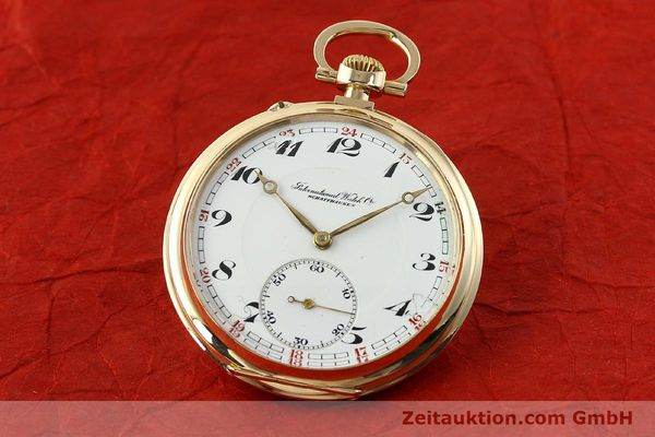 Used luxury watch IWC Taschenuhr 14 ct yellow gold manual winding Kal. H5  | 141470 04