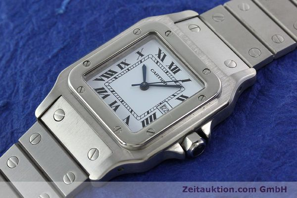 Used luxury watch Cartier Santos steel automatic Kal. ETA 2671  | 141475 01