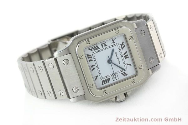 Used luxury watch Cartier Santos steel automatic Kal. ETA 2671  | 141475 03