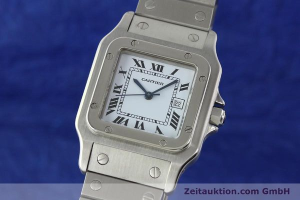 Used luxury watch Cartier Santos steel automatic Kal. ETA 2671  | 141475 04