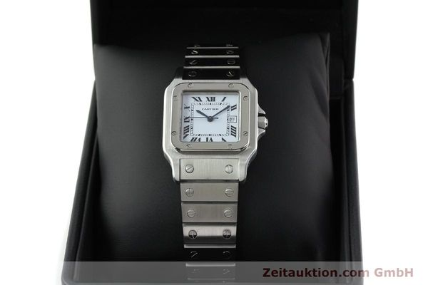 Used luxury watch Cartier Santos steel automatic Kal. ETA 2671  | 141475 07