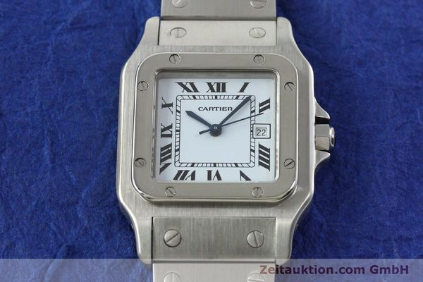 Used luxury watch Cartier Santos steel automatic Kal. ETA 2671  | 141475 14