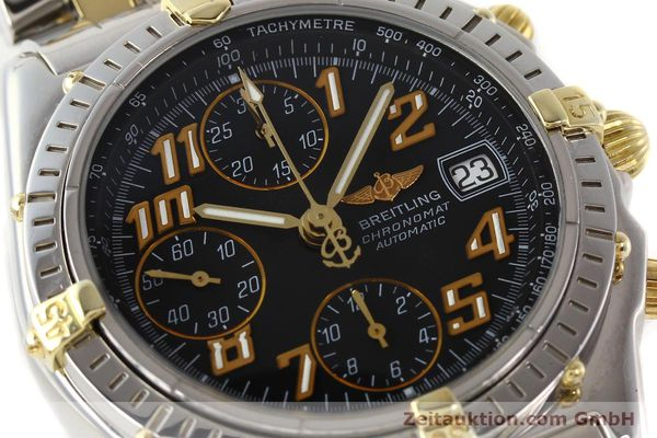 Used luxury watch Breitling Chronomat chronograph gilt steel automatic Kal. B13 B.1 ETA 7750 Ref. B13050.1  | 141480 02