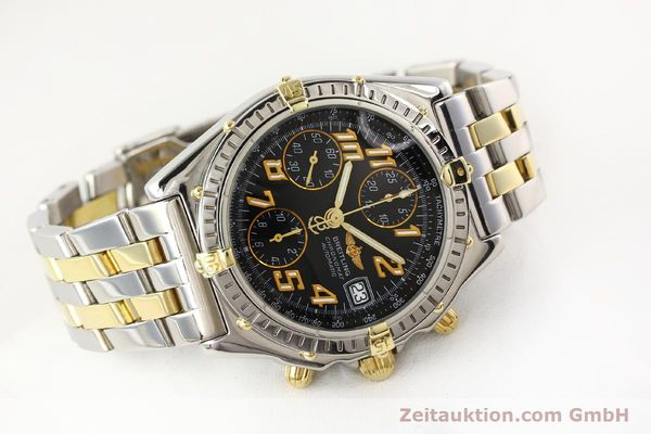 Used luxury watch Breitling Chronomat chronograph gilt steel automatic Kal. B13 B.1 ETA 7750 Ref. B13050.1  | 141480 03
