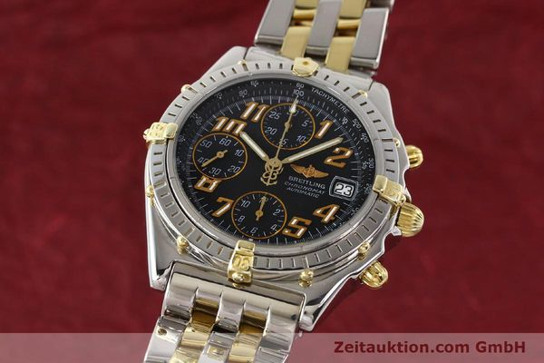Used luxury watch Breitling Chronomat chronograph gilt steel automatic Kal. B13 B.1 ETA 7750 Ref. B13050.1  | 141480 04