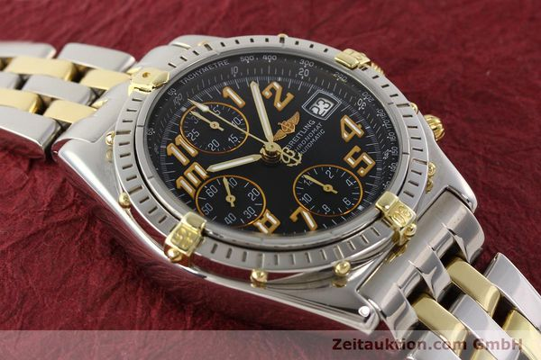 Used luxury watch Breitling Chronomat chronograph gilt steel automatic Kal. B13 B.1 ETA 7750 Ref. B13050.1  | 141480 14
