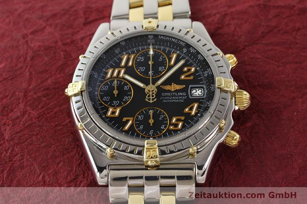Used luxury watch Breitling Chronomat chronograph gilt steel automatic Kal. B13 B.1 ETA 7750 Ref. B13050.1  | 141480 15