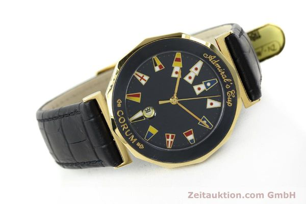 Used luxury watch Corum Admirals Cup gilt steel quartz Kal. 1482 ETA 256111 Ref. 99.810.31  | 141481 03