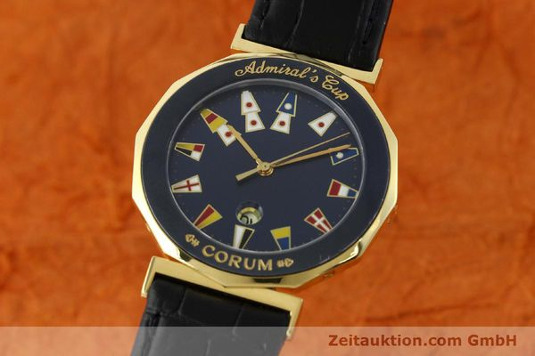 Used luxury watch Corum Admirals Cup gilt steel quartz Kal. 1482 ETA 256111 Ref. 99.810.31  | 141481 04