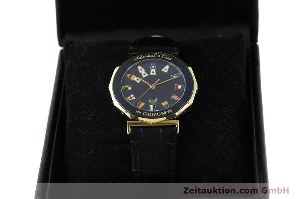 Used luxury watch Corum Admirals Cup gilt steel quartz Kal. 1482 ETA 256111 Ref. 99.810.31  | 141481 07