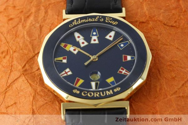 Used luxury watch Corum Admirals Cup gilt steel quartz Kal. 1482 ETA 256111 Ref. 99.810.31  | 141481 14