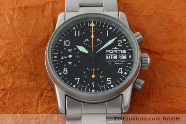 Used luxury watch Fortis Cosmonauts Chronograph chronograph steel automatic Kal. ETA 7750 Ref. 622.10.141  | 141483 15