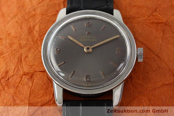 Used luxury watch Zenith * steel automatic Kal. 1338  | 141491 13