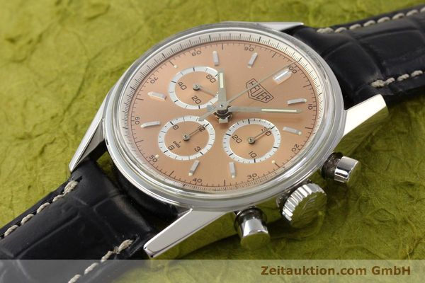 Used luxury watch Tag Heuer Carrera chronograph steel manual winding Kal. LWO 1875 Ref. CS3112  | 141496 01