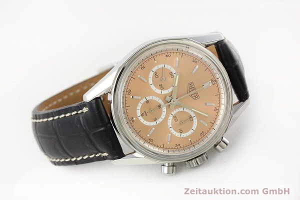 Used luxury watch Tag Heuer Carrera chronograph steel manual winding Kal. LWO 1875 Ref. CS3112  | 141496 03