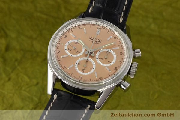 Used luxury watch Tag Heuer Carrera chronograph steel manual winding Kal. LWO 1875 Ref. CS3112  | 141496 04