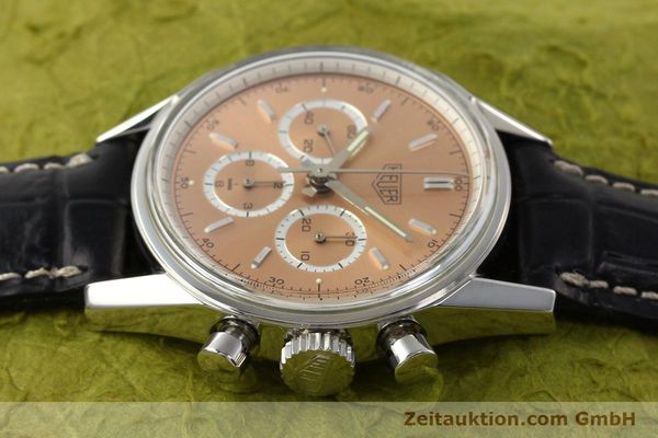 Used luxury watch Tag Heuer Carrera chronograph steel manual winding Kal. LWO 1875 Ref. CS3112  | 141496 05