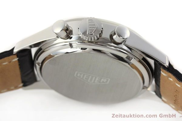 Used luxury watch Tag Heuer Carrera chronograph steel manual winding Kal. LWO 1875 Ref. CS3112  | 141496 08