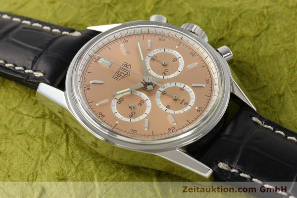 Used luxury watch Tag Heuer Carrera chronograph steel manual winding Kal. LWO 1875 Ref. CS3112  | 141496 13