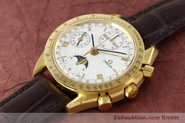 Used luxury watch Omega Speedmaster 18 ct gold automatic Kal. 1150 VAL 7751  | 141510 01