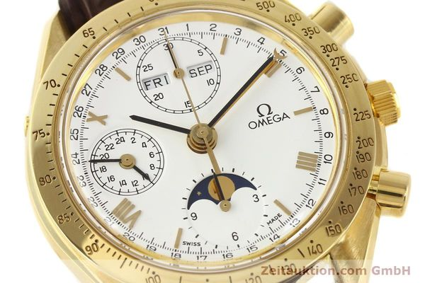 Used luxury watch Omega Speedmaster 18 ct gold automatic Kal. 1150 VAL 7751  | 141510 02