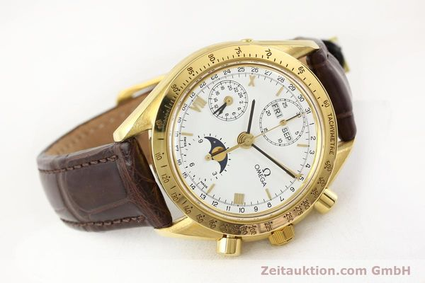 Used luxury watch Omega Speedmaster 18 ct gold automatic Kal. 1150 VAL 7751  | 141510 03