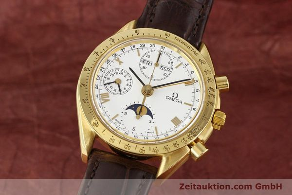 Used luxury watch Omega Speedmaster 18 ct gold automatic Kal. 1150 VAL 7751  | 141510 04