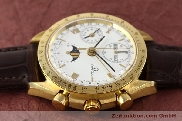 Used luxury watch Omega Speedmaster 18 ct gold automatic Kal. 1150 VAL 7751  | 141510 05