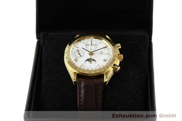 Used luxury watch Omega Speedmaster 18 ct gold automatic Kal. 1150 VAL 7751  | 141510 07