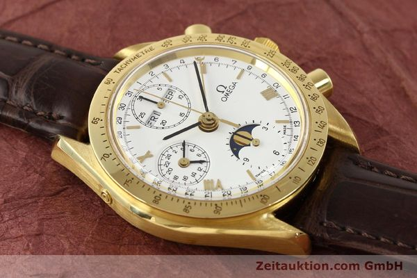 Used luxury watch Omega Speedmaster 18 ct gold automatic Kal. 1150 VAL 7751  | 141510 14