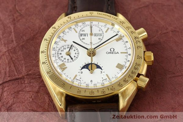 Used luxury watch Omega Speedmaster 18 ct gold automatic Kal. 1150 VAL 7751  | 141510 15